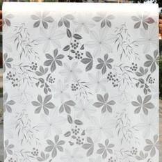 ส่วนลด สติ๊กเกอร์ฝ้าติดกระจก แบบมีกาวในตัว ดอกไม้ สีขาวเทา หน้ากว้าง 90Cmx500Cm กรุงเทพมหานคร