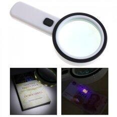 ส่วนลด 90Mm 30X Optical Glass Magnifying With 12 Led Light And Uv Light For Reading Intl