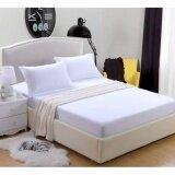 ซื้อ ผ้าปูที่นอนรัดมุม สีพื้นขาว เกรด A ขนาด 5ฟุต 5 ชิ้น ไม่รวมผ้านวม ออนไลน์ ถูก