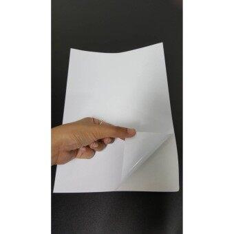 สติกเกอร์ A4 ขาวด้าน เอนกประสงค์ หนา 60 แกรม บางลงเพื่อทำให้ผิวสติกเกอร์เรียบเนียนกับพื้นผิวที่ติด และเครื่องพิมพ์ดูดกระดาษได้ดีขึ้น แผ่นหลังด้วย CCK ทำให้ลอกง่าย รวดเร็ว ไม่ฉีกขาดง่าย