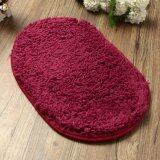 ส่วนลด Absorbent Soft Bathroom Bedroom Floor Non Slip Mat Bath Shower Rug Plush Carpet Red Wine จีน