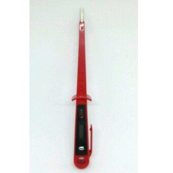 ไขควงเช็คไฟระบบดิจิตอล ไขควงเช็คไฟฟ้า วัดไฟฟ้า ปากแบนและหน้าจอแสดงกระแสไฟฟ้าและไฟ AC/DC 12-250V Pen Screwdriver Digital Display (Red)