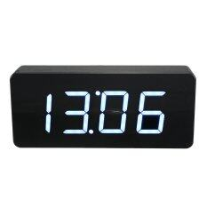 ขาย Acrylic Mirror Wooden Digital White Led Alarm Desk Clock Calendar Thermometer Unbranded Generic เป็นต้นฉบับ