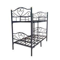ราคา Adhome เตียงเหล็ก 2 ชั้น ขนาด 3 5 ฟุต รุ่น Double 3 5 สีดำ ใน กรุงเทพมหานคร