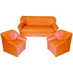 ราคา ราคาถูกที่สุด Adhome โซฟาชุด ราคาประหยัด ขนาด5ที่นั่ง รุ่น311 สีส้ม