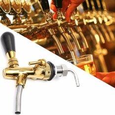 ขาย ซื้อ Adjustable Draft Beer Faucet G5 8 Shank W Chrome Gold Plating For Kegerator Tap Intl ใน จีน