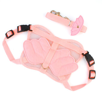 Adjustable Pink Pet Cat Dog Rabbit Ferret Angle Wing Harness Leash Strap Rope S (Intl)