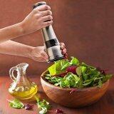 ขาย โรงเกลือและพริกไทย Adjustable Stainless Steel Salt And Pepper Mill Ceramic Grinder Kitchen Gadget Silver Intl Unbranded Generic เป็นต้นฉบับ