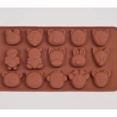 ราคา แม่พิมพ์ซิลิโคน การ์ตูนน่ารัก Animal Face พิมพ์วุ้น ทำน้ำแข็ง ทำ Chocolate Food Grade ใหม่