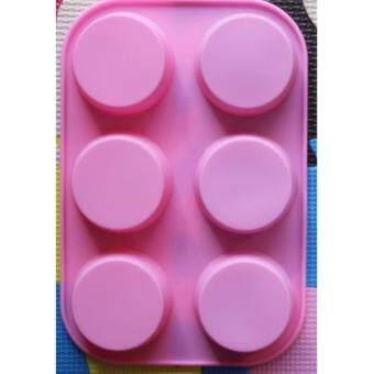 แม่พิมพ์ซิลิโคน รูปถ้วย 6 ช่อง สหรับทำวุ้น ช็อคโกแลต คุกกี้ เยลลี่ หรือน้ำแข็งสำหรับวิสกีั สบู่ เทียนหอม สินค้าเกรดส่งออก
