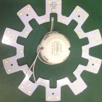 แผงไฟ LED โคมซาลาเปา 15 วัตต์ แสงเดย์ไลท์ รุ่นใหม่ไม่ต้องใช้ไดร์เวอร์