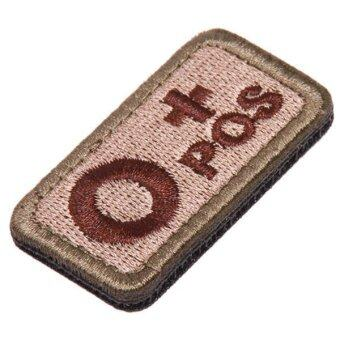 Ai Home Military Tactics Blood Types Embroidered Velcro Hook O Patch