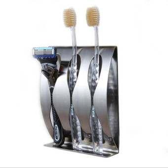 Ai เหล็กกล้าไร้สนิมสำหรับบ้านติดผนังผู้ถือแปรงสีฟัน - INTL-