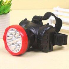 ส่วนลด สินค้า ไฟฉายคาดศรีษะแบตเตอรี่ในตัวชาร์จไฟได้ Led 7ดวง สีดำ แดง