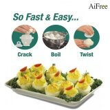 Aifree 2Sets 12 Pieces Cooking Hard Boil Eggs Without Shells With 2 Piece Eggs Separator Eggs Steamer Cooker Hot Selling Intl Thailand
