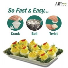 Aifree 2Sets 12 Pieces Cooking Hard Boil Eggs Without Shells With 2 Piece Eggs Separator Eggs Steamer Cooker Hot Selling Intl Aifree ถูก ใน Thailand