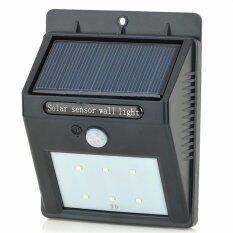 ราคา ราคาถูกที่สุด ไฟติดผนังโซล่าเซลล์ 6 Smd Led Motion Sensor