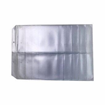 ใส้พลาสติก ใส่ธนบัตร (ห่วงเหลฺ็ก) ขนาด 23.5 x 23.5 ซม. 2 ช่อง จำนวน 5 แผ่น