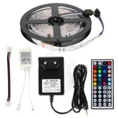 Alithai ไฟเส้น ไฟแถบ 5m 5050 RGB 30/M LED Strap Lights + 12V 3A Power supply + 44key IR รีโมทคอนโทรล EU Plug