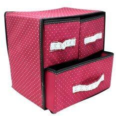 All U Like กล่องเอนกประสงค์ 3 ช่อง สีแดง ใน กรุงเทพมหานคร