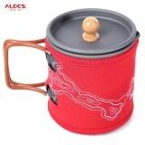 โปรโมชั่น Alocs 600Ml Portable Aluminum Oxide Coffee Pot Kettle Cup Set Red Unbranded Generic ใหม่ล่าสุด