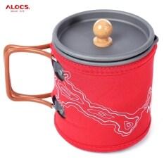 ซื้อ Alocs 600Ml Portable Aluminum Oxide Coffee Pot Kettle Cup Set Red ถูก