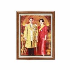 ราคา An P Shop กรอบรูป รัชกาลที่ 9 คู่กับ พระราชินี ประทับยืน ขนาด 15 X 20 นิ้ว ใหม่