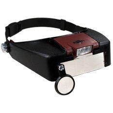 ขาย ซื้อ Angang แว่นขยายแบบสวมหัว พร้อมไฟแอลอีดี รุ่น Mg18007 A สีดำ