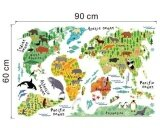ขาย Animal World Map Removable Decal Art Mural Home Decor Wall Stickers Intl ออนไลน์ จีน