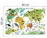 ราคา Animal World Map Removable Decal Art Mural Home Decor Wall Stickers Intl ใหม่