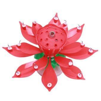ศิลปะดนตรีเทียนดอกบัวสุขสันต์วันเกิดพรรคไฟหมุน 8/14 เทียนโคมไฟอุปกรณ์ตกแต่ง - นานาชาติ