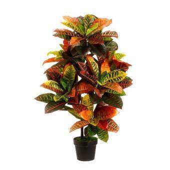 ประดิษฐ์ 115 เซนติเมตร Croton กลางแจ้งรังสียูวี Topiary ต้นไม้พุ่มไม้ปาล์มพืชหม้อลานสระว่ายน้ำ - นานาชาติ-