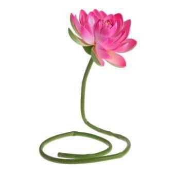ประดิษฐ์ดอกไม้ปลอมโลตัสน้ำดอกบัวที่มีก้านพืชสวนตกแต่งแจกัน - นานาชาติ