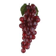 ขาย Artificial Faux Fake Lifelike Plastic Fruit Sketch Prop Decor Grape Purple L Bolehdeals