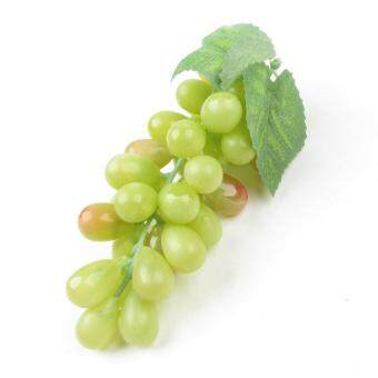 Artificial Plastic Fruit Grapes Cluster Home Office Decoration Green (Intl)