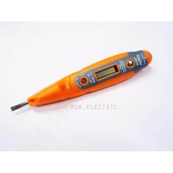 Asaki ไขควงลองไฟดิจิตอล LED มีไฟฉาย AK-9058 Pro. Digital Voltage Tester-