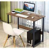 ซื้อ Asia โต๊ะทำงาน ขนาด 1 เมตร โครงเหล็กดำ วอลนัท T100 Asia ออนไลน์