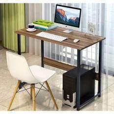 Asia โต๊ะทำงาน ขนาด 1 เมตร โครงเหล็กดำ วอลนัท T100 เป็นต้นฉบับ