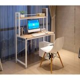 ราคา Asia โต๊ะทำงาน ขนาด 1 เมตร มีต่อบน รุ่นX2 โครงขาว ไม้เมเปิ้ล ถูก