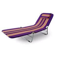 Asia เตียงผ้าขนปุย ปรับ 3 ระดับ (สีม่วง)