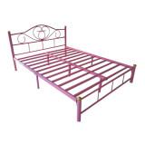 โปรโมชั่น Asia เตียงเหล็ก5ฟุต รุ่นโลตัส ขา2นิ้ว สีชมพู Asia