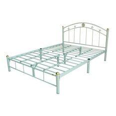 ราคา Asia เตียงเหล็ก6ฟุต Star ขา2นิ้ว สีขาว ถูก