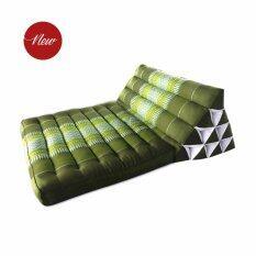 ซื้อ Asia หมอนอิงพร้อมเบาะนอน หมอนสามเหลี่ยม 10 ช่อง 1 พับ สีเขียว ขนาด 76X53X28Cm ใน สมุทรสาคร