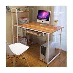 ซื้อ Asia โต๊ะคอมพิวเตอร์ ขนาด 1 เมตร รุ่นมีต่อข้าง Loft Style โครงขาว ไทย