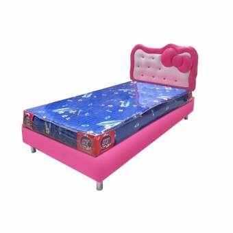 Asia Set เตียงหัวเบาะ รุ่นโบว์ 3.5 ฟุต+ที่นอนโฟม 3.5 ฟุต หนา6นิ้ว
