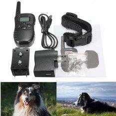 Audew 300M Rechargeable 100 Level Shock Vibra Remote Lcd Pet Dog Training Collar เป็นต้นฉบับ