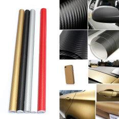 Audew คาร์บอนไฟเบอร์ตัดสติ๊กเกอร์ม้วนสติ๊กเกอร์กระดาษสติ๊กเกอร์รถ 30 X 127 สีดำ Intl เป็นต้นฉบับ
