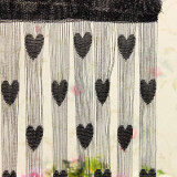 ซื้อ Audew Heart Drop Beads String Door Window Curtain Tassel Divider Room Blind Fly Screen Black Intl ถูก