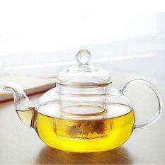 ราคา Audew Heat Resistant Glass Teapot Infuser Tea Pot 600Ml Clear Intl Unbranded Generic ออนไลน์