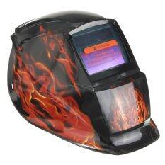 ซื้อ Audew New Pro Welding Grinding Auto Darkening Mask Arc Tig Mig Solar Powered Helmet Flame Pattern ใหม่ล่าสุด